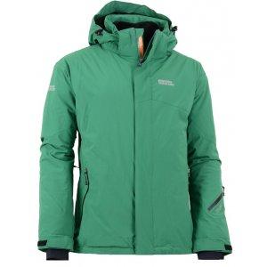Pánská zimní lyžařská bunda NORDBLANC VANGUARD NBWJM5303 TMAVÁ ZELENÁ