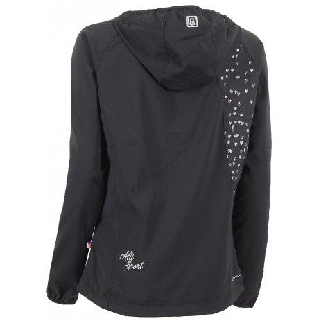 Dívčí lehká softshellová bunda ALTISPORT FENDERA-J ALJS16004 ČERNÁ