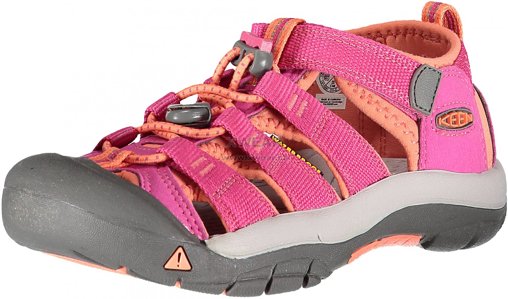 2eeb60c380b1 Dětské sandále KEEN NEWPORT H2 JR VERY BERRY FUSION CORAL velikost ...