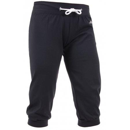 Dámské 3/4 elastické kalhoty ALTISPORT AVY ALLS16077 ČERNOBÍLÁ