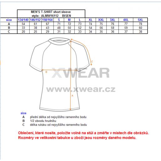 Pánské termo triko ALTISPORT BISEN ALMW16112 MODRÁ