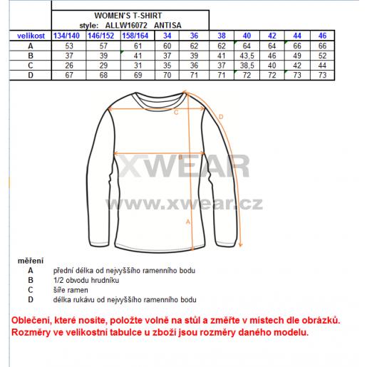 Dámské triko s dlouhým rukávem ALTISPORT ANTISA ALLW16072 HNĚDÁ