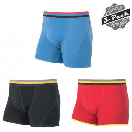 Pánské boxerky SENSOR MERINO ACTIVE 3-PACK černá/červená/modrá