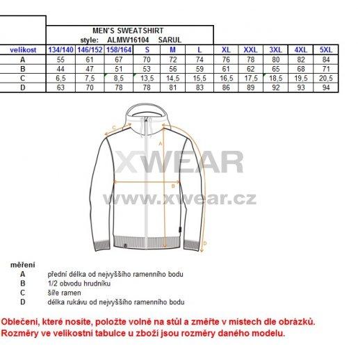 Pánská mikina ALTISPORT SARUL ALMW16104 MELÍR