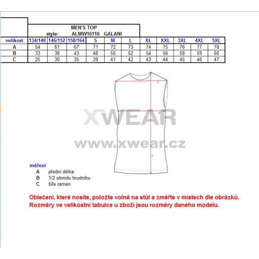 Pánské termo triko bez rukávu ALTISPORT GALANI ALMW16110 ČERNÁ