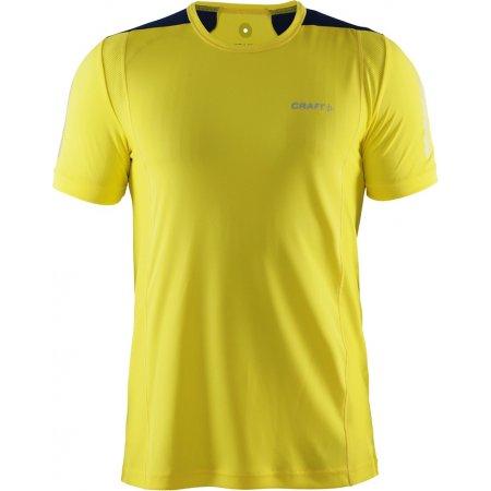Pánské běžecké tričko Craft Devotion SS kr. rukáv žlutá