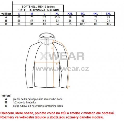 Pánská softshellová bunda ALTISPORT MAGNUN II ČERNÁ
