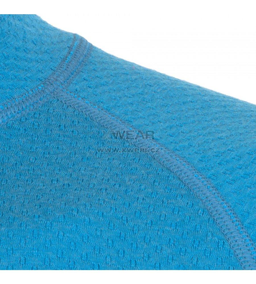 Pánské termoprádlo Sensor Double Face Merino Wool rolák zip modrá ... 73df1f9683