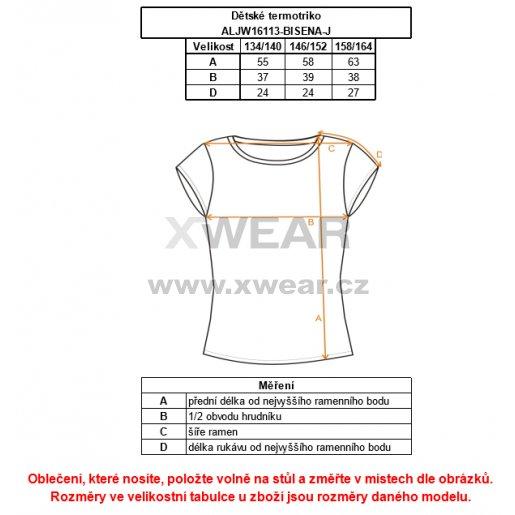 Dětské termo triko ALTISPORT BISENA-J ALJW16113 ČERNÁ