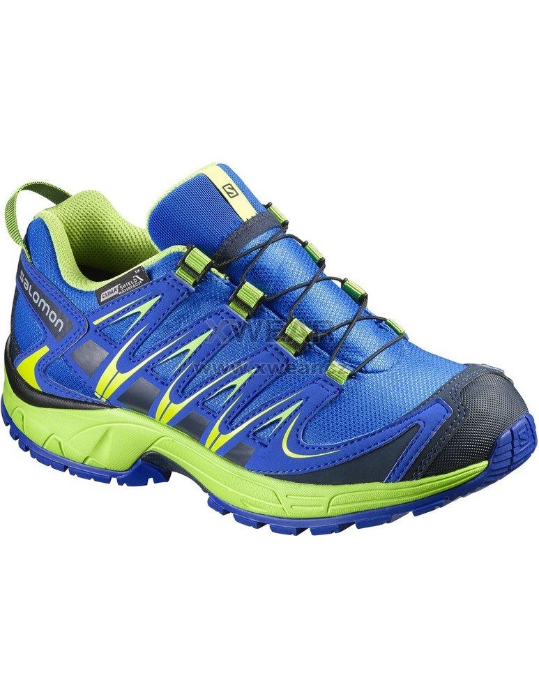 Dětské trekové boty Salomon XA Pro 3D CSWP J Blue blue yond green ... 752010d7a2