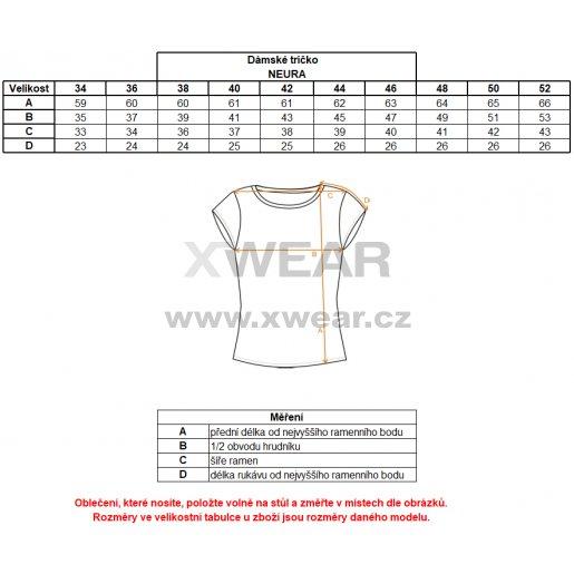 Dámské triko s krátkým rukávem ALTISPORT NEURA ALLS17057 ČERNÁ