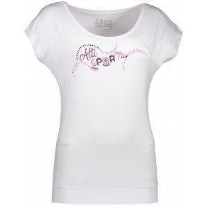 Dámské triko s krátkým rukávem ALTISPORT GOHDA ALLS17062 BÍLÁ