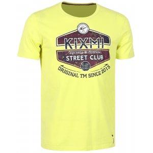 Pánské triko s krátkým rukávem KIXMI CHARLIE AAMTS17152 ŽLUTÁ