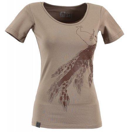 Dámské triko s krátkým rukávem ALTISPORT NEURA ALLS17057 HNĚDÁ