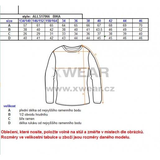 Dámské triko s krátkým rukávem ALTISPORT BIKA ALLS17066 TYRKYSOVÁ