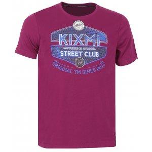 Pánské triko s krátkým rukávem KIXMI CHARLIE AAMTS17152 VÍNOVÁ