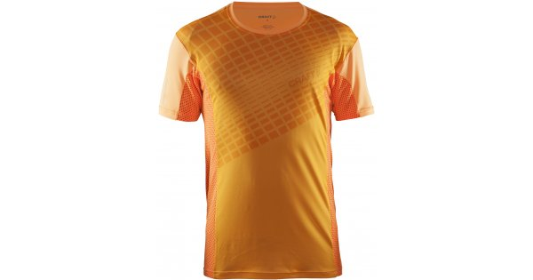 9994998ceced Pánské běžecké triko CRAFT FOCUS 2.0 MESH KR. RUKÁV 1905061 ORANŽOVÁ  velikost  S   XWEAR.cz