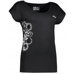 Dámské triko s krátkým rukávem ALTISPORT PALA ALLS17064 ČERNÁ