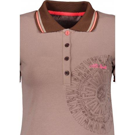 Dámské triko s límečkem ALTISPORT ALIARA HNĚDÁ