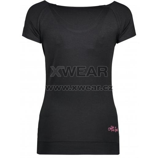 Dámské triko s krátkým rukávem ALTISPORT ARLA ALLS17061 ČERNÁ