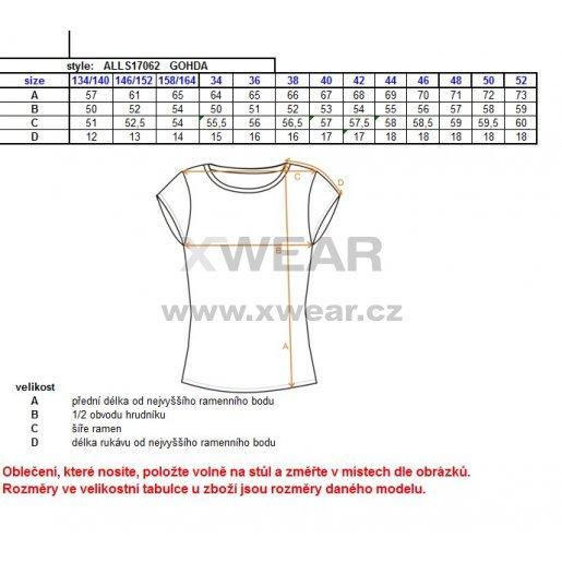 Dámské triko s krátkým rukávem ALTISPORT GOHDA ALLS17062 TYRKYSOVÁ