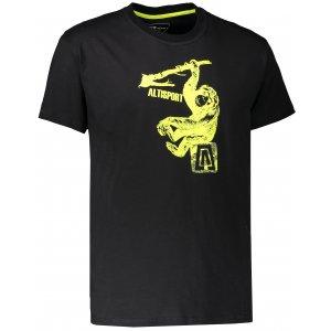 Pánské triko s krátkým rukávem ALTISPORT JODI ALMS17072 ČERNÁ