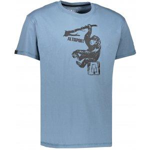 Pánské triko s krátkým rukávem ALTISPORT JODI ALMS17072 MODRÁ
