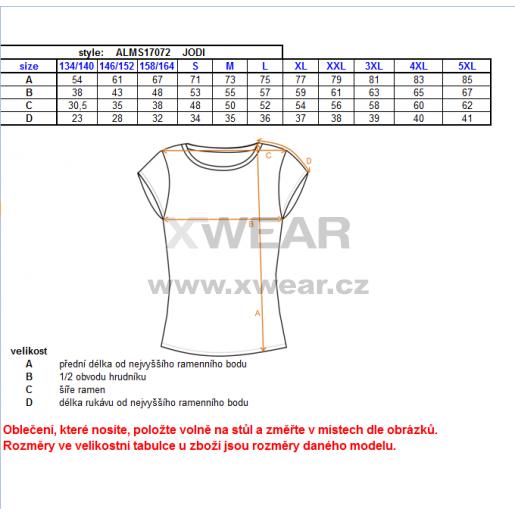 Pánské triko s krátkým rukávem ALTISPORT JODI ALMS17072 ČERVENÁ