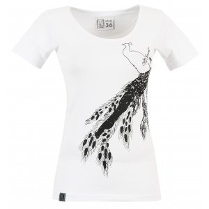 Dámské triko s krátkým rukávem ALTISPORT NEURA ALLS17057 BÍLÁ