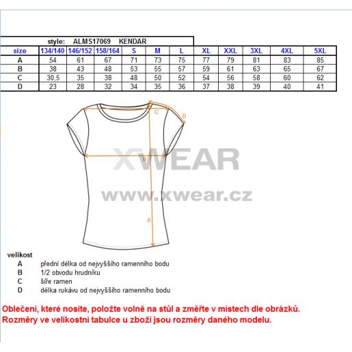 Pánské triko s krátkým rukávem ALTISPORT KENDAR ALMS17069 ŠEDÝ MELÍR