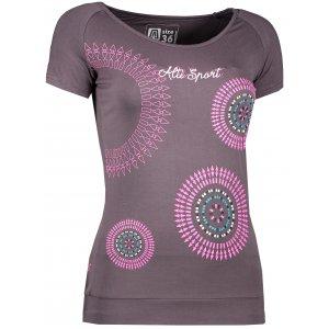 Dámské triko s krátkým rukávem ALTISPORT ARLA ALLS17061 TMAVĚ ŠEDÁ