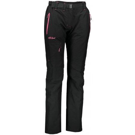 Dámské zateplené kalhoty ALTISPORT TURSA ALLW17027 ČERNORŮŽOVÁ