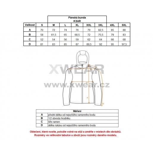 Pánská zimní bunda ALTISPORT KSAR ALMW17014 MELÍR