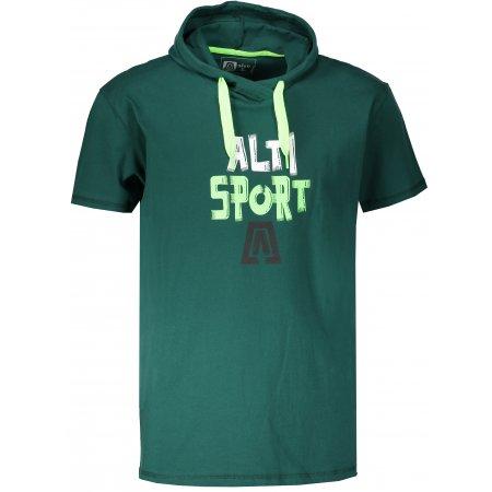 Pánské tričko s krátkým rukávem ALTISPORT ROGES TMAVĚ ZELENÁ