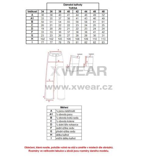Dámské zateplené kalhoty ALTISPORT TURSA ALLW17027 ČERNOMODRÁ
