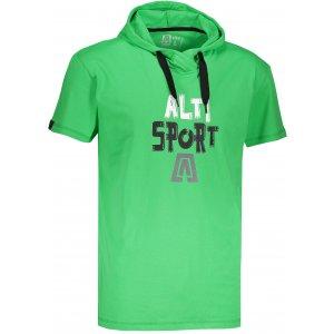 Pánské tričko s krátkým rukávem ALTISPORT ROGES ZELENÁ