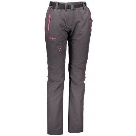 Dámské zateplené kalhoty ALTISPORT TURSA ALLW17027 TMAVĚ ŠEDÁ