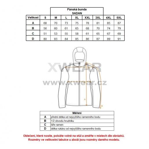 Pánská bunda ALTISPORT SADAN ALMW17018 TYRKYSOVÁ
