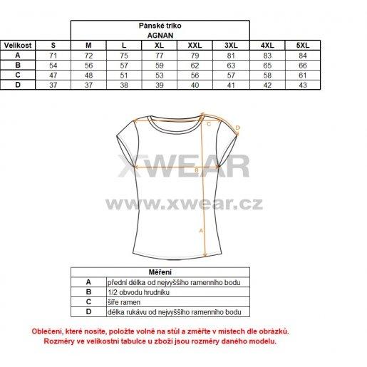 Pánské tričko s krátkým rukávem ALTISPORT AGNAN ALMW17071 ČERNÁ