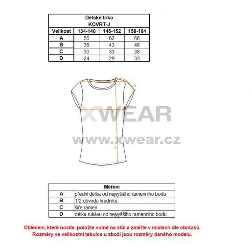 Chlapecké tričko s krátkým rukávem ALTISPORT KOVRT-J TMAVĚ ZELENÁ