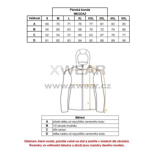 Pánská zimní bunda ALTISPORT MEGDAZ ALMW17013 ČERVENÁ