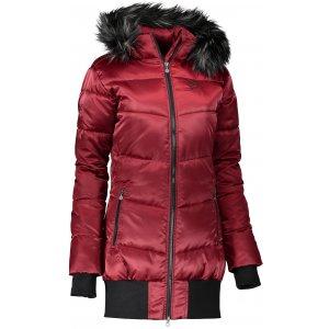 Dámský zimní kabát ALTISPORT SIDIS ALLW17008 TMAVĚ ČERVENÁ