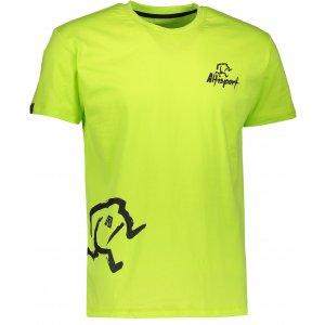 Pánské tričko s krátkým rukávem ALTISPORT AGNAN ALMW17071 SVĚTLE ZELENÁ