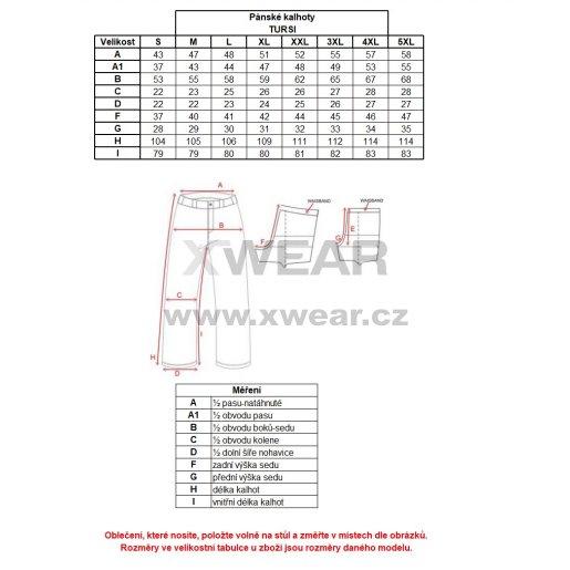 Pánské zateplené kalhoty ALTISPORT TURSI ALMW17028 ČERNOZELENÁ