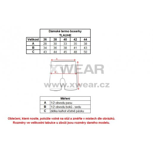Dámské termo boxerky ALTISPORT TLAUHE ALLW17137 ČERNÁ