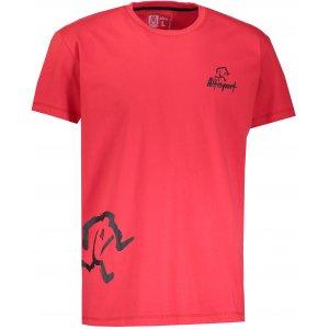 Pánské tričko s krátkým rukávem ALTISPORT AGNAN ALMW17071 ČERVENÁ