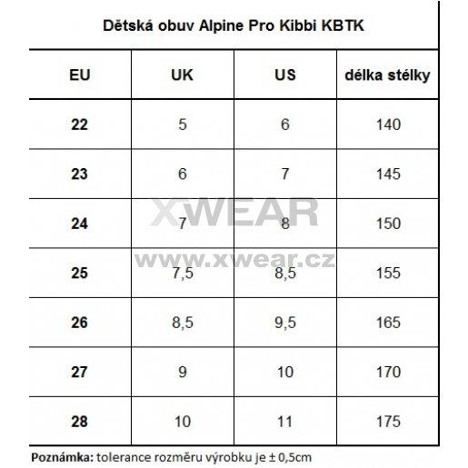 Dětské zimní boty ALPINE PRO KIBBI KBTK134 ČERNÁ velikost  EU 26 ... 6cfa12ed65