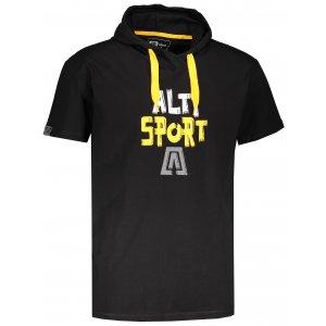 Pánské tričko s krátkým rukávem ALTISPORT ROGES ČERNÁ