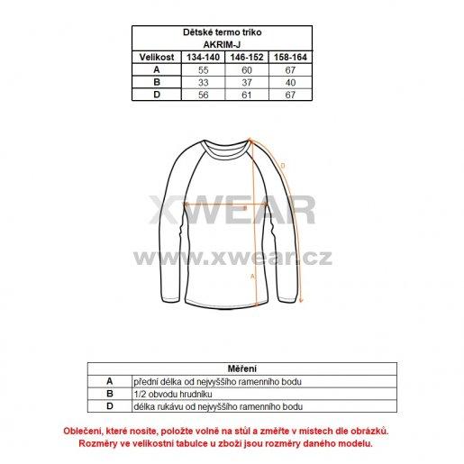 Chlapecké termo triko ALTISPORT AKRIM-J ALJW17132 MODRÁ