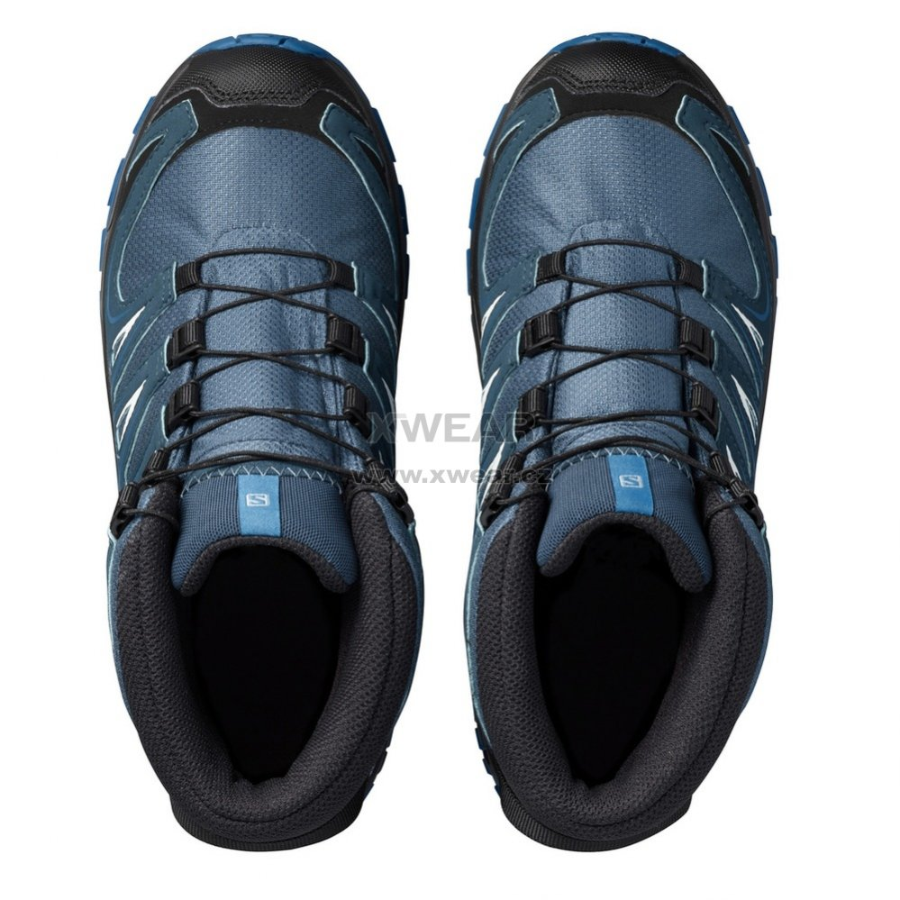 1b0e6b28110 Dětské trekové boty SALOMON XA PRO 3D MID CSWP J MALLARD BLUE REFLECTING  POND